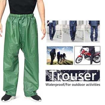 Motocyklowe wodoodporne spodnie przeciwdeszczowe płaszcz przeciwdeszczowy na zewnątrz spodnie ciężka woda sprzęt przeciwdeszczowy kombinezon przeciwdeszczowy dla mężczyzn tanie i dobre opinie Waterproof Unisex
