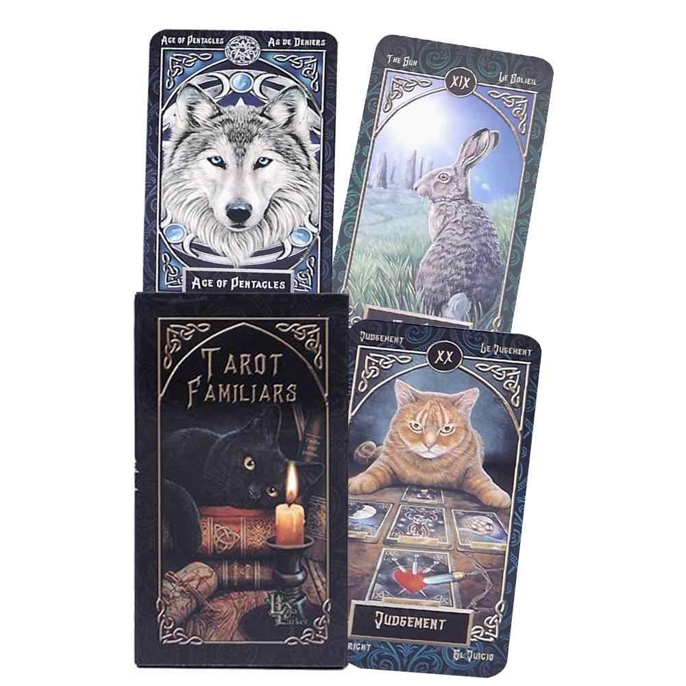 2020 New Tarot Familiars Divination Oracle Tarot Cards With Full English Pdf Guidebook Animal Magic Card Party Board Game Toys Aliexpress