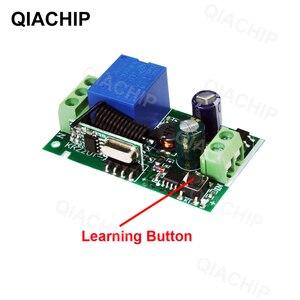 Image 3 - QIACHP 433 Mhz Interruptor de Controle Remoto Sem Fio Universal DC 12 V 1CH Relé Módulo Receptor + Transmissor RF 433 Mhz controles remotos