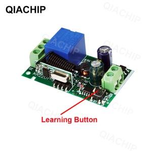 Image 3 - QIACHP 433 Mhz uniwersalny bezprzewodowy pilot zdalnego sterowania przełącznik DC 12 V 1CH przekaźnik moduł odbiornika + RF nadajnik 433 Mhz zdalnego kontroli