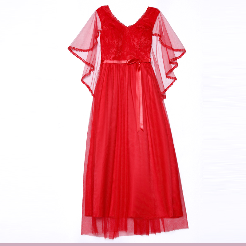 A-Line Long Tulle Red Bridesmaid Dresses Elegant Vestido Azul Marino Guest Wedding Party Dress Embroidery Simple Dress Sexy Prom