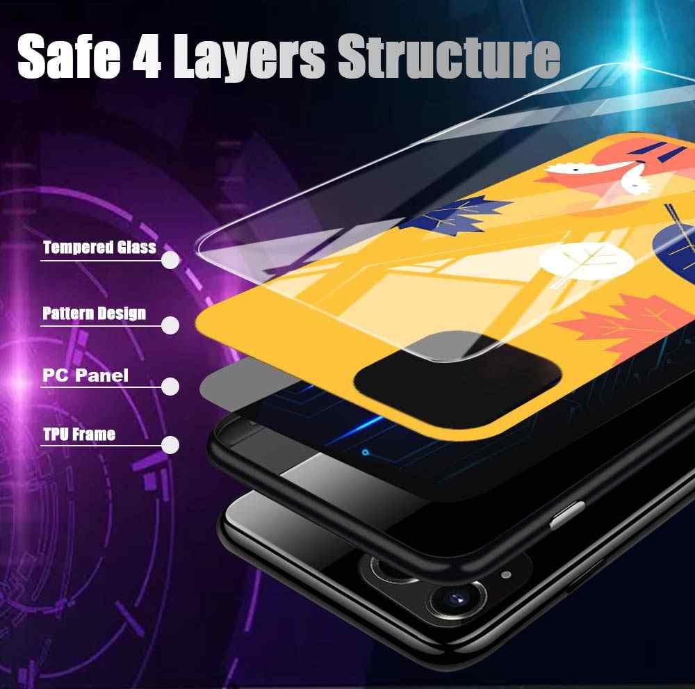 強化ガラス apple の iphone 5 11 プロ xs max x xr xs 8 7 6 6 s プラス 8 + 7 + シリコーンエッジシェル