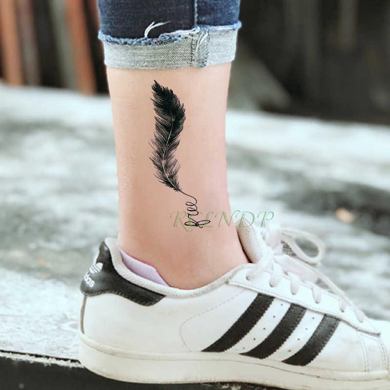 Wodoodporna tymczasowa naklejka tatuaż czarne pióro mały rozmiar art tatto flash tatoo fałszywe tatuaże dla kid mężczyzn kobiet