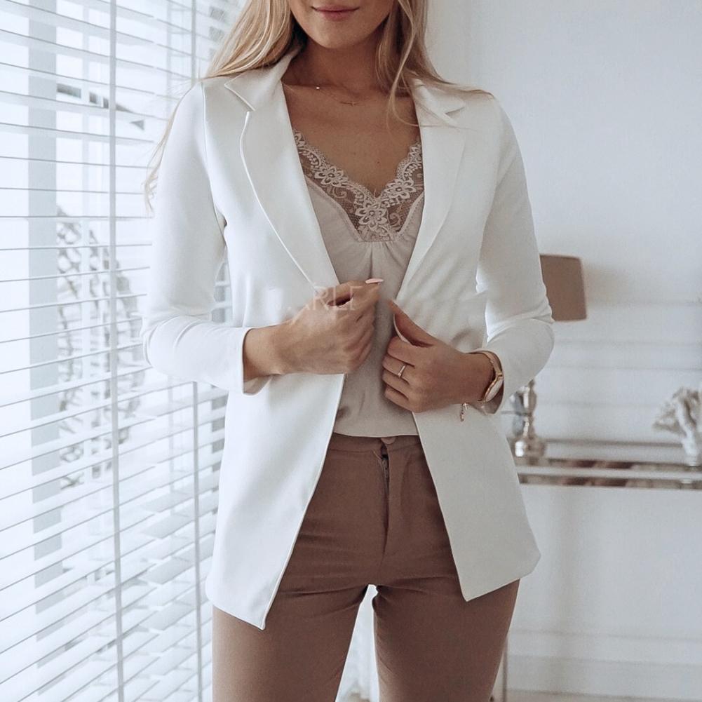 Fashion Women Suit Business Blazer Casual Lapel Long Sleeve Jacket Blazers Outwear Ladies Black Pink Slim Blazer Chaqueta Mujer