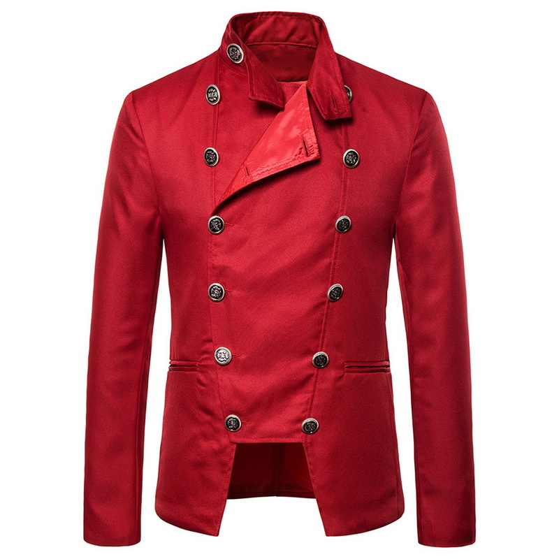 Men Retro Fashion Wind Double Breasted Metrosexual Man Suit Jacket Dress Blazer 2019 New Men Wedding Stage Performance Clothes