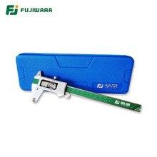 FUJIWARA-calibrador Vernier de acero inoxidable con pantalla Digital, calibrador electrónico LCD de 0-150mm/pulgada, IP54