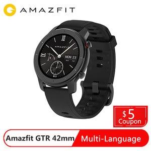 Image 5 - במלאי Amazfit GTR 42mm חכם שעון הגלובלי גרסה smartwatch 5ATM עמיד למים Smartwatch 12 ספורט מצבים
