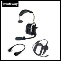 baofeng uv 5r מכשיר קשר אוזניות אוזניות עבור KENWOOD Baofeng UV-5R BF-888s Retevis H777 (2)