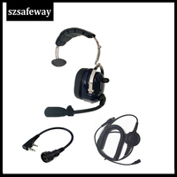 baofeng uv 5r uv מכשיר קשר אוזניות אוזניות עבור KENWOOD Baofeng UV-5R BF-888s Retevis H777 (2)