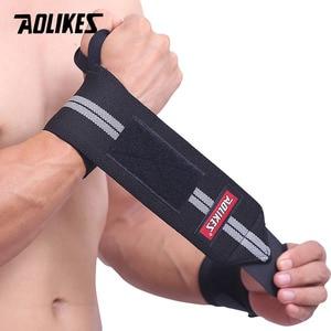 Image 1 - AOLIKES Băng 1 Dây Hỗ Trợ Cổ Tay Nâng Tạ Tập Gym Hỗ Trợ Cổ Tay Nẹp Dây Đeo Crossfit Powerlifting