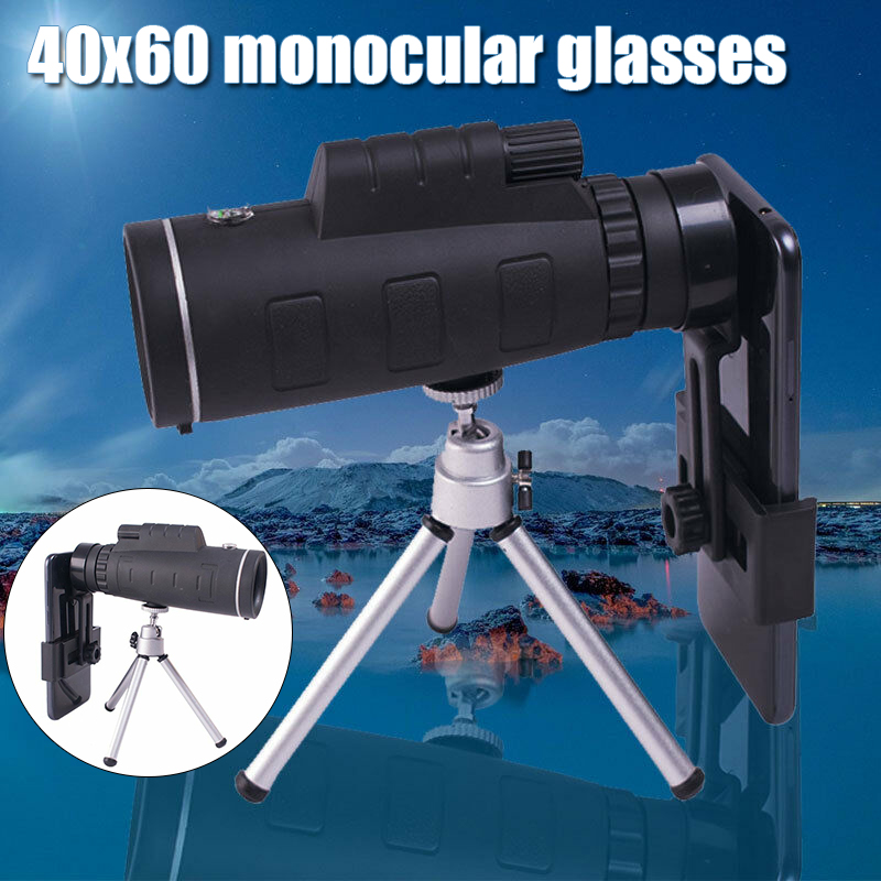 Professional Spotting Scope 40x60 Zoom Monocular Telescope High Power Waterproof Telescop Hunting Bird Watching Target