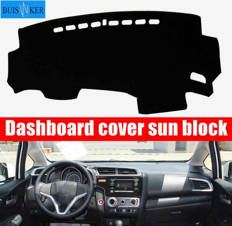 สำหรับ Honda Fit JAZZ 2014-2018 Auto Dashboard MAT Pad Anti-UV จัดแต่งทรงผม Sunshade Dashmat เครื่องมือพรมรถอุปกรณ์เสริม RHD