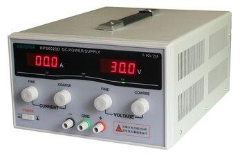 цена на KPS6020D High precision High Power Adjustable LED Dual Display Switching DC power supply 220V EU 60V/20A KPS Free shipping