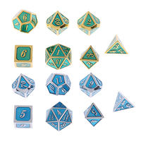 14Pcs/Pack Multisided Dice D4 D20 TRPG for Adults MTG DND Party Fun Toy Gift