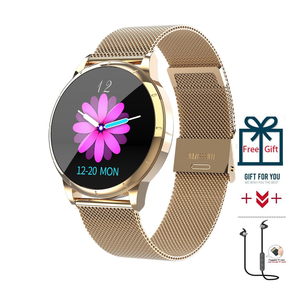 Smart IP67 Tempered Glass Watch Smart Bracelet Activity Tracker Fitness Heart Rate Monitor Sports Men WrisBand Women SmartWatch