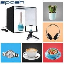 SPASH podświetlana tablica składana budka foto 30 cm Softbox możliwość przyciemniania bi color z 6 kolorami fotografia Studio strzelanie pudełko w kształcie namiotu