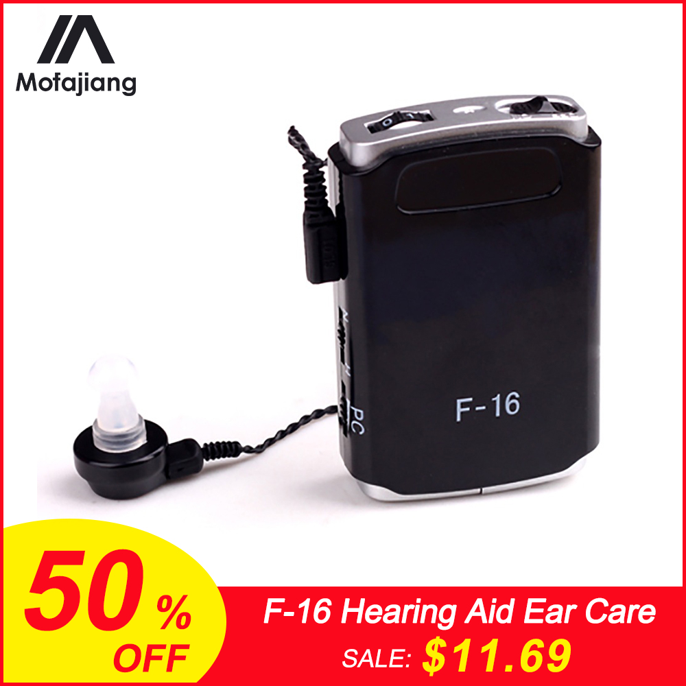 Hearing Aid Portable Ear Care Voice Hearing Loudspeaker F-16 Pocket High Power Wired Box Mini For Elder Sound   Amplifier