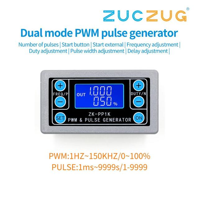 ZK PP1K PWM pulse frequency duty cycle adjustable module square wave rectangular wave signal function generator