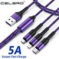 3 в 1 Micro Usb мульти кабель для быстрой зарядки Type C Usb 3в1 Tipo C кабель для зарядного устройства Kabel для Samsung Note 20 S20 Oneplus Nord Cabel