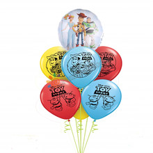 Toy Story 4 Balloon woody Bo peep Foil latex Bouquet Set Baby Birthday Party Supplies Decorations(China)