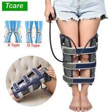 Tcare 1 zestaw nadmuchiwane nogi pas korekcyjny nogi korektor postawy X/O kształt nogi pas korekcyjny stabilizator na kolano bandaż wyprostuj nogi