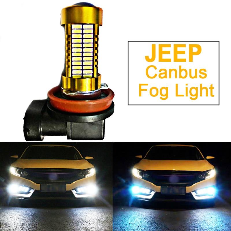 1 Uds bombilla LED de coche lámpara de H8 H11 PSX24W 2504 H10 9145 para JEEP Cherokee brújula patriota Grand Cherokee Wrangler Comandante
