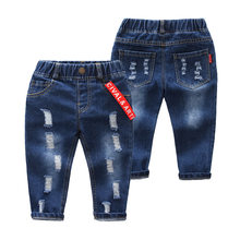 Childrenswear Summer Wear BOY'S Pants 2019 New Style Children Casual Jeans Boy Summer Capri Pants Korean-style Fashion-(China)