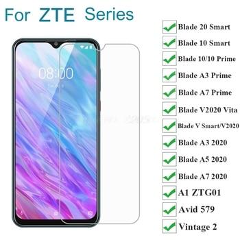 Перейти на Алиэкспресс и купить 2-1 шт. закаленное стекло для ZTE Blade A3 A7 10 Prime 20 V Smart V2020 Vita A3 A5 A7 2020 стекло ZTE A1 ZTG01 Avid 579 винтажная 2 пленка
