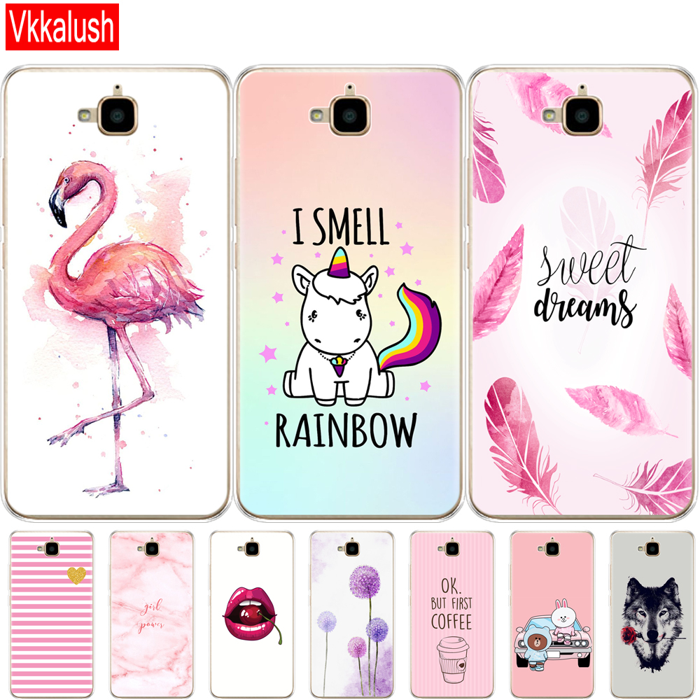 Case For Huawei Honor 4C Pro Case Honor 4C Pro Cover Soft Silicon Shell Case For Huawei Y6 Pro 2015 Case TIT-L01 TIT-TL00 Phone