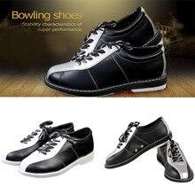 Принадлежности для боулинга, мужская и женская профессиональная обувь для боулинга, спортивная обувь с нескользящей подошвой, дышащая обувь для фитнеса(ПУ+ Эва+ резина