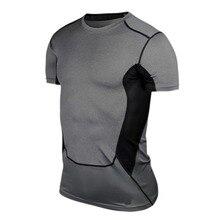 Мужская компрессионная футболка Под базовым слоем, облегающая футболка с коротким рукавом, Спортивная Коллекция s-xxl на открытом воздухе