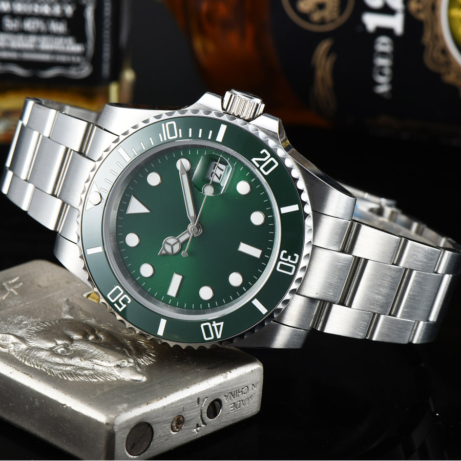 watch men automatic mechanical watch Luminous waterproof date 316L Solid stainless steel  40MM LLS55