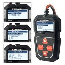 2021 nowy KW208 Tester akumulatora samochodowego ładowarka analizator 12V 100 2000CCA instalacja ładująca Test