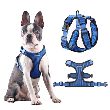 Adjustable Pet Training Product Chihuahua Pug No Pull Mesh Dog Harness Breathable Puppy Vest Reflective Harnesses For Small Dogs