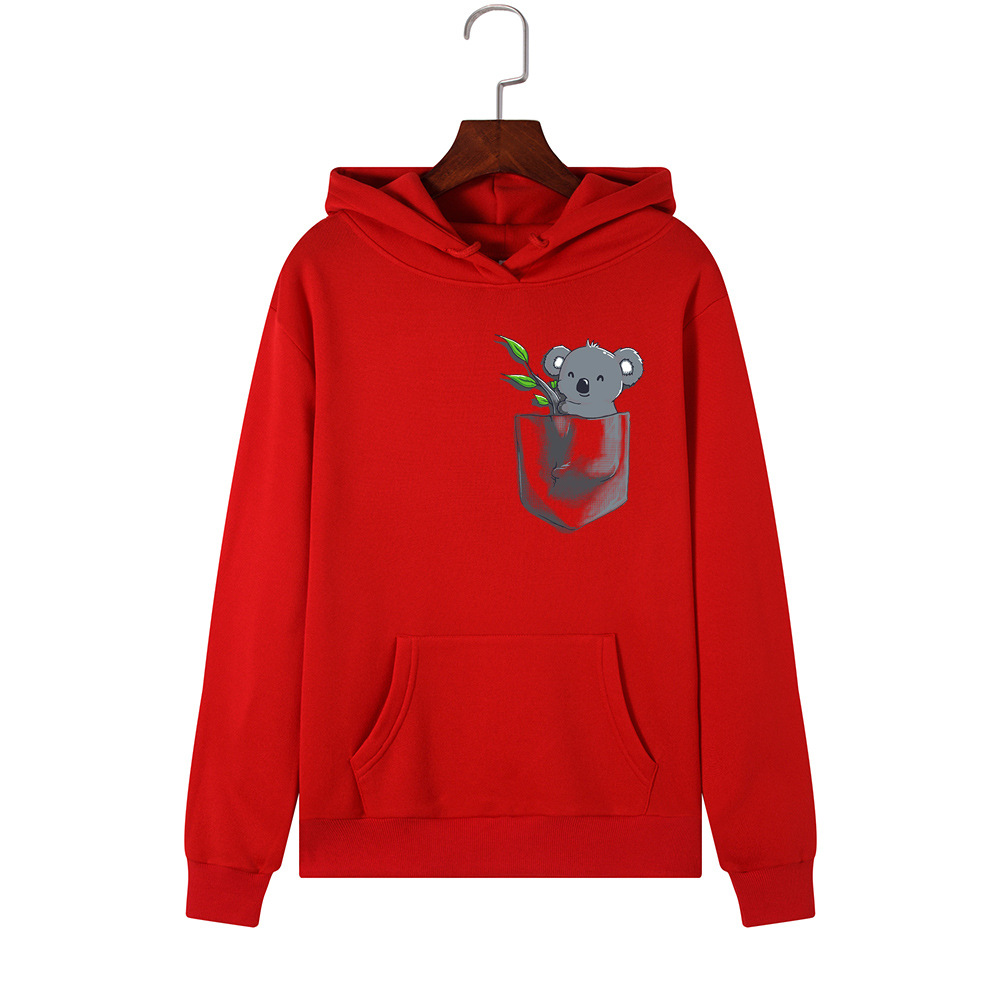 H000c4fca2daf41ad80e5adb338563187r - Hoodies Women Brand Female Long Sleeve Cute Animal Koala Print Hooded Sweatshirt Tracksuit Pullover Casual Sportswear S-2XL
