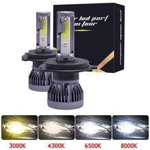 Мотоцикл 12000LM мини H7 светодиодный Автомобильный свет лампы для передних фар 72W фары для H1 светодиодный H8 H9 H11 9005 HB3 9006 Авто 12V светодиодный лампы для автомобилей