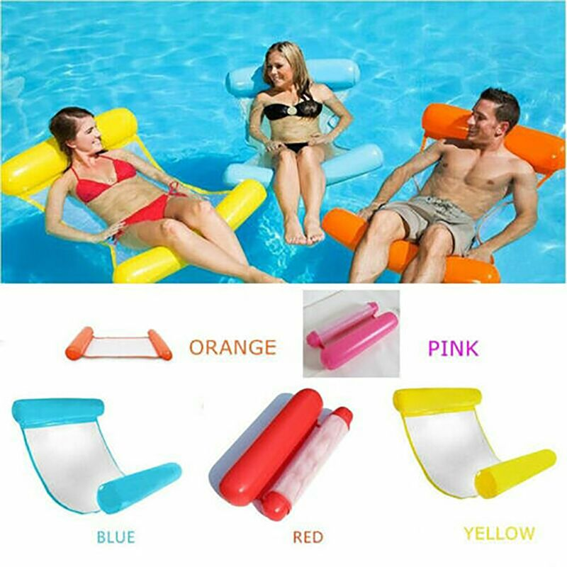 Summer Inflatable Floating Hammock Row Pool Air Mattresses Foldable Water Sports Chair Floating Sleeping Cushion Bed Chair