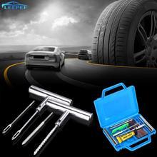 12 unids/set pinchazo en el neumático herramienta de reparación de herramientas para arreglar rápido pegamento de Reparación de neumáticos de coche herramientas Kit de reparación de neumáticos tira de goma