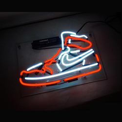 Sport Shoe Logo Neon Sign Light Beer Bar Pub Party Celebrate Wall Decor Real Glass