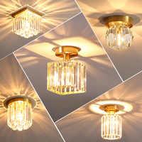 Lámpara LED de cristal para techo lámpara de techo montada en superficie E14 moderna para dormitorio, sala de estar, oficina y tienda, accesorios de iluminación para interiores