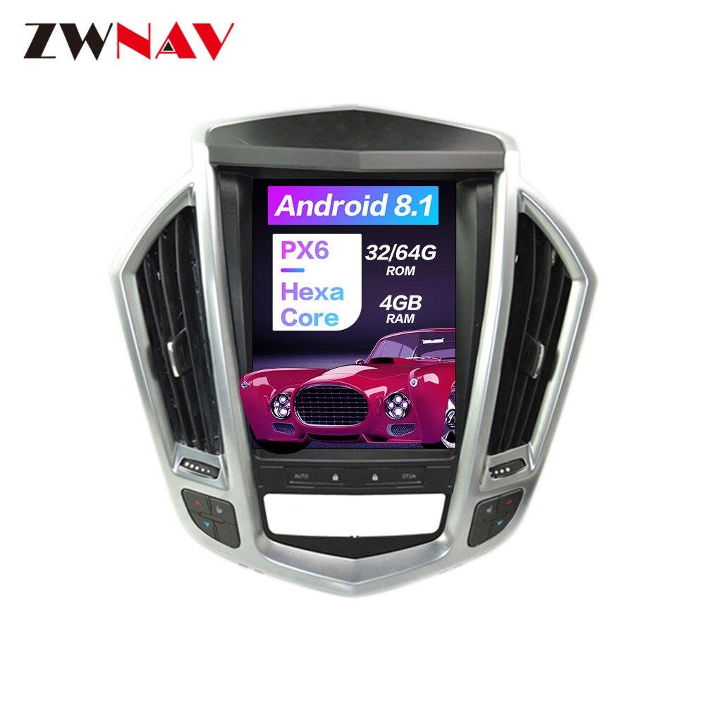 Android 8.1 écran Vertical Tesla Style pour Cadillac SRX 2009-2012 unité avant Auto stéréo lecteur multimédia Radio avec Carplay