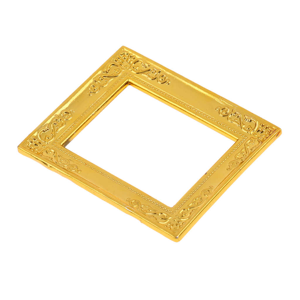 Gold Rahmen Miniature Gold Rahmen Photo Frame 1:12 Dollhouse Rooms Wall Decor Accessory Dolls & Bears Fzgil Dollhouse Miniatures
