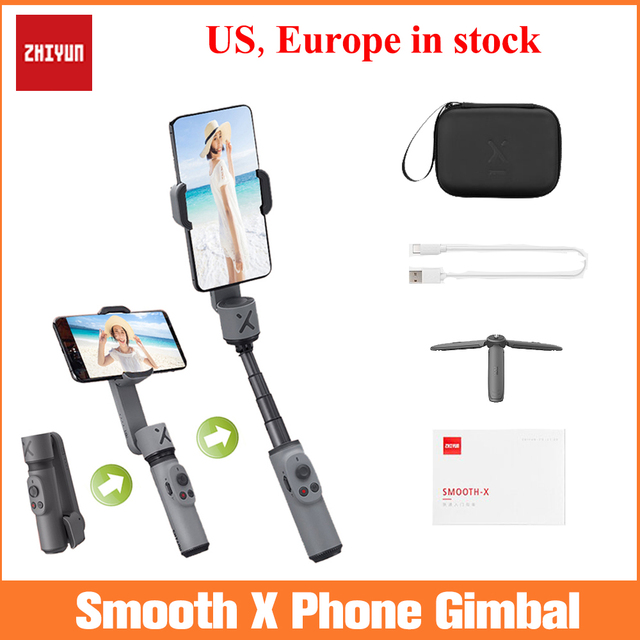 Zhiyun Smooth X Handheld Gimbal Stabilizer for iPhone 11 Xs Max Xr X 8 Plus 7 Huawei Samsung Note10 S10, 2 Axis Phone Stabilizer