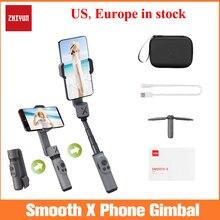 Zhiyun 부드러운 X 핸드 헬드 짐벌 안정제 아이폰 11 Xs 최대 Xr X 8 플러스 7 화웨이 삼성 Note10 S10, 2 축 전화 안정제