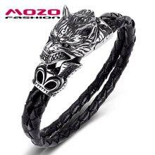 Мужские браслеты модные ювелирные изделия черные двухслойные