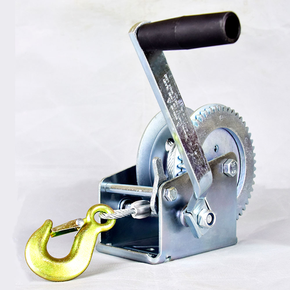 Winch Hand Tool  Crank Gear Winch Boat Truck Auto Hand Self-locking Manual Winch Hand  Lifting Sling 600lbs/800lbsx8/15m