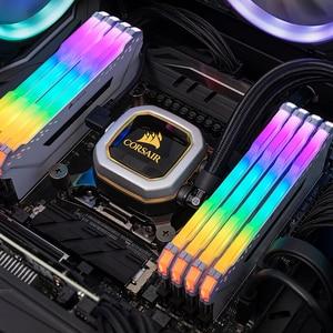 Image 5 - CORSAIR RGB PRO Kit di Memoria RAMS 16GB (2X8 GB) modulo Dual channel DDR4 PC4 3000Mhz 3200Mhz Mzh DIMM Bianco