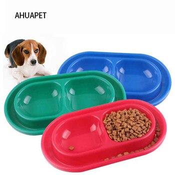 Cuenco de agua Para perros, Plato doble de plástico Para Mascotas, suministros...