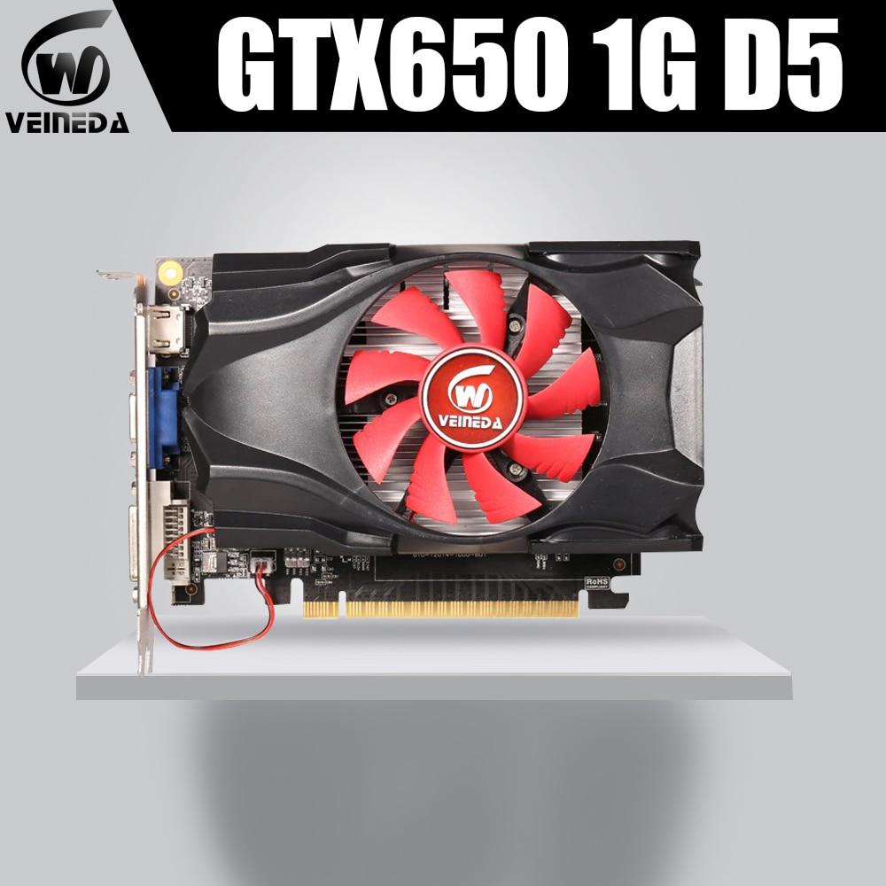 GTX650 GPU Veineda Video Card GTX650 1G 128Bit Gtx Graphics Vga Game Card 1059/5000MHz Hdmi+Dvi Directx11 Video Card