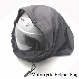Image 2 - 47x42cm Drawstring Water Drawstring Pocket Motorcycle Helmet Lid Protect Bag Helmet Protection Bag Dust Bag Soft Cloth